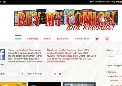Buy My Comics & Records